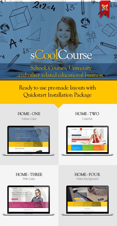 sCoolCourse – Educational School & Course Joomla Template